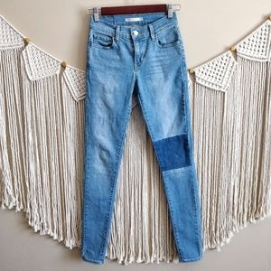 LEVI'S 710 Super Skinny Light Blue Patch Jeans 25